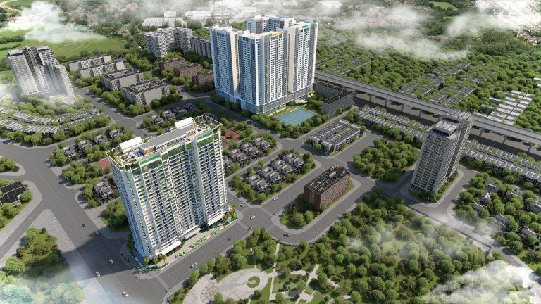 Phối cảnh dự án Eco Dream view từ trên cao xuống