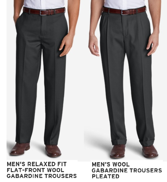 Flat Plain Front Verse Pleated Trousers