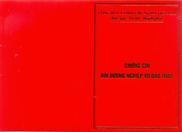 Chung chi nghiep vu dau thau