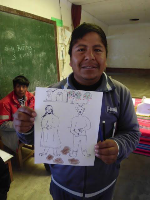 Auch der Dorfschullehrer zeichnet gerne