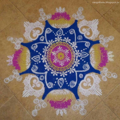 Multi Color Rangolis