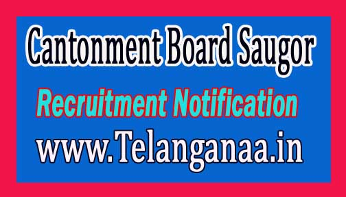 Cantonment Board Saugor Recruitment Notification 2016