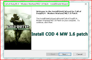 Install COD 4 MW 1.6 patch