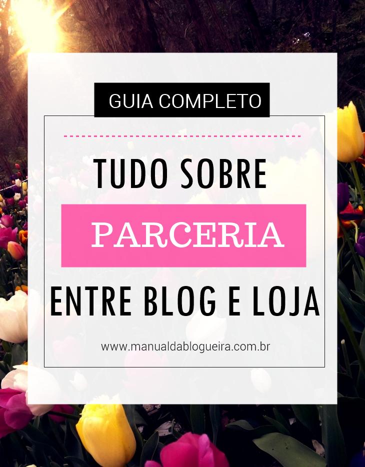parceria entre blog e loja
