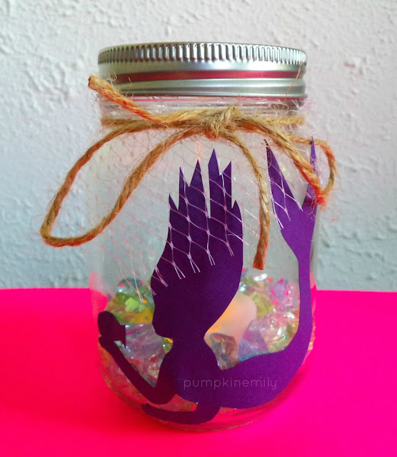 DIY Mermaid Silhouette Candle Jar