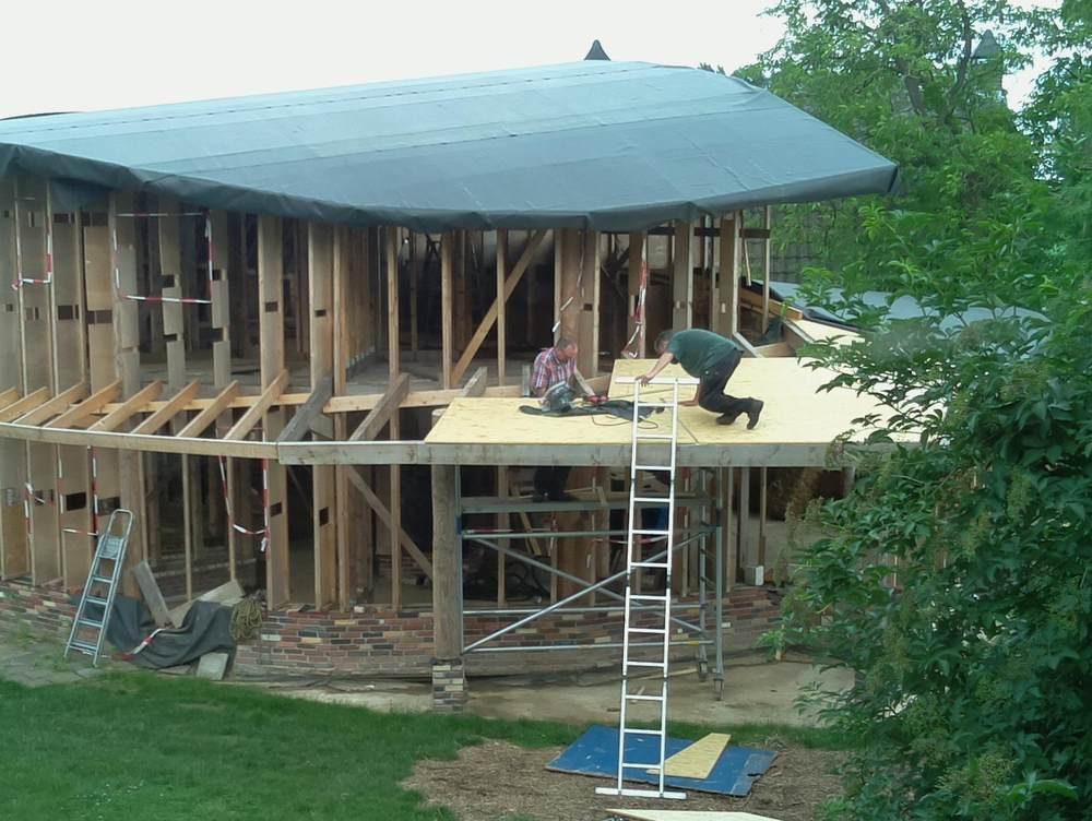 Ons nieuwe eco huis begin veranda