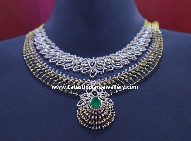 Eyecatching Layered Diamond Necklace