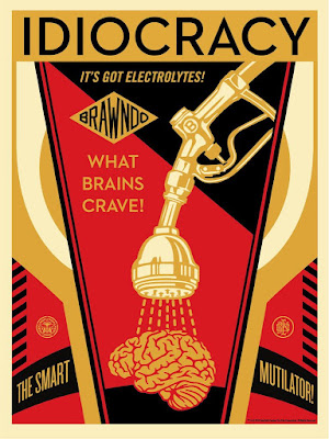 Idiocracy 10th Anniversary Screen Print by Shepard Fairey x Mondo
