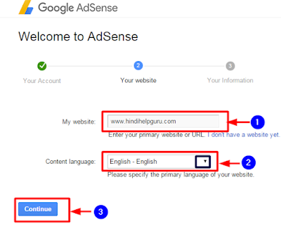 adsense Blog Submit Account