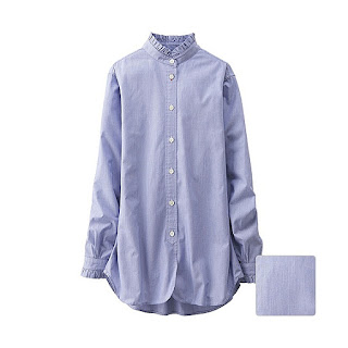 Unique Ines Stand Collar Long Sleeve Shirt