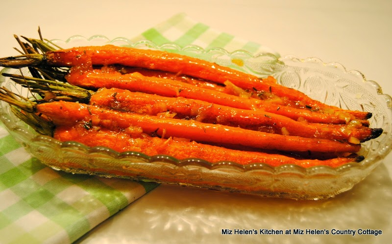 Spicy Glazed Carrots  at Miz Helen's Country Cottage