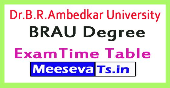 Dr.B.R.Ambedkar University  BRAU Degree/UG Exam Time Table 2017