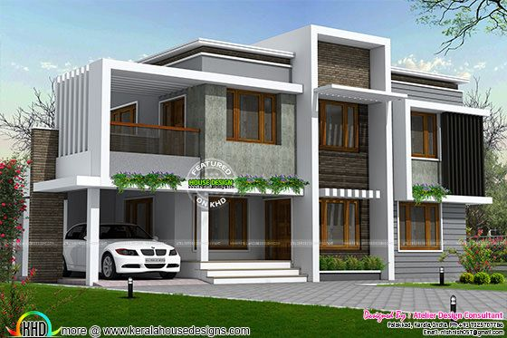 Simple type of contemporary homes in 2558 sq-ft