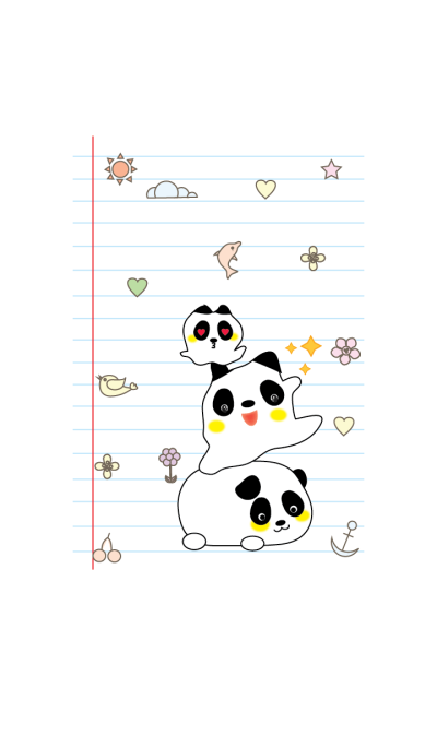 Cute panda theme v.3