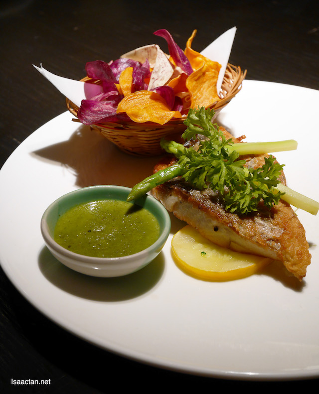 Pan Fried Sea Bass with Green Curry - RM37.80