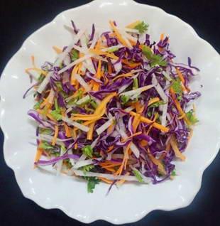 Salad bắp cải tím củ đậu