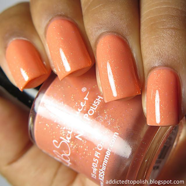 kbshimmer hello dahlia spring 2016 orange creme holo micro glitter