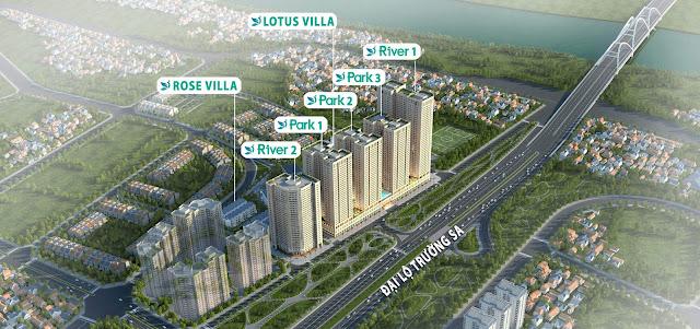 Phối cảnh tổng quan dự án chung cư Eurowindow River Park