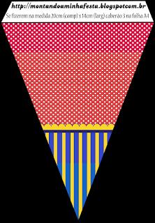 Banderines de Rayas en Blanco y Negro para imprimir gratis.