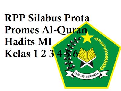 RPP Silabus Prota Promes Al-Quran Hadits MI Kelas 1 2 3 4 5 6