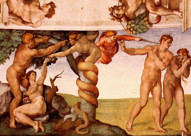 Микеланджело. Фрагмент росписи Сикстинской капеллы.