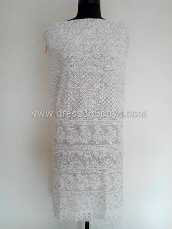 Lucknow Chikan Wholesale And Retail Pure Georgette