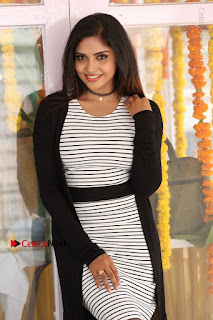 Telugu Actress Karunya Chowdary Stills in Black Dress at Soda Goli Soda Movie Opening  0148.JPG