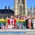 بالصور : نساء أمازيغيات بأوتاوا بكندا يتظاهرن بالزي الامازيغي التقليدي تضامنا مع نضال الامازيغ