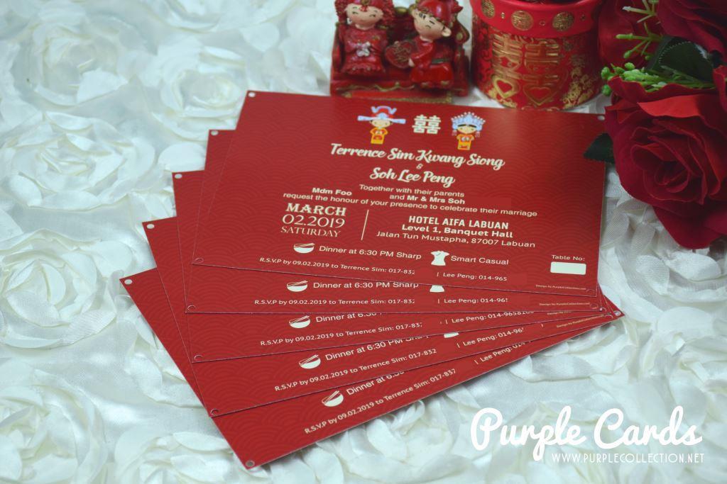 wedding card malaysiapurple cards