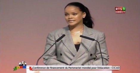 Discours de Rihana à la Conférence de Financement du Partenariat Mondial pour l'Education