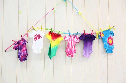 545bf53735d649 iLoveToCreate Blog  Throw a Tie Dye Onesie Party at your next Baby ...