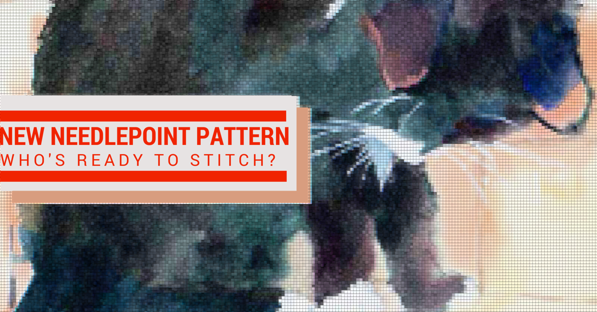 needlepoint kits | needlepoint patterns | needlepoint canvases | cat design