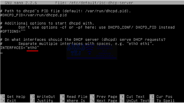 Edit isc-dhcp-server