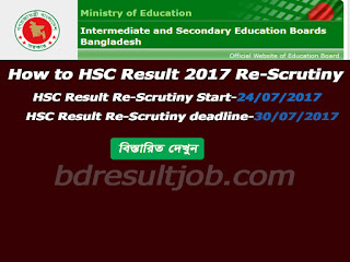 HSC Re-scrutiny Process 2017
