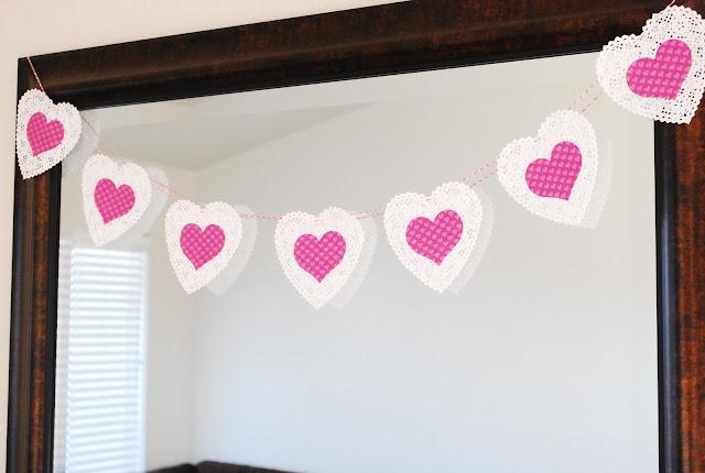 Heart Doily Banner