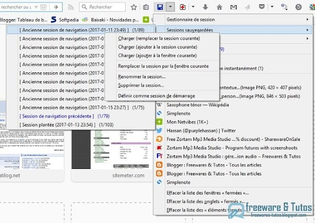 Session Manager : le gestionnaire de session indispensable à Firefox