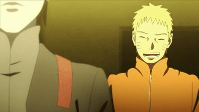 Naruto sonríe en un capítulo de Boruto