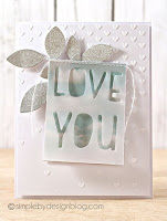 Die cut & stitched vellum  - Joy