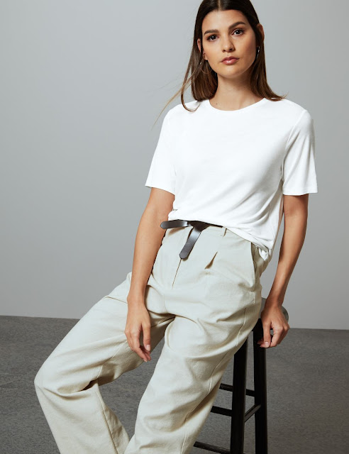 marks and spencer drape short sleeve t shirt