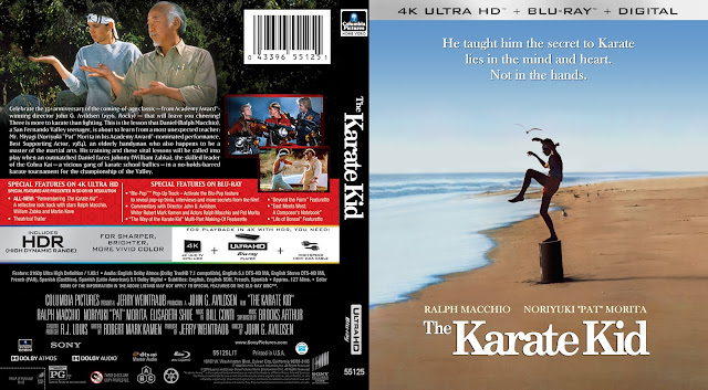 The Karate Kid 4k UHD Bluray Cover