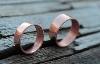 recycled copper wedding band
