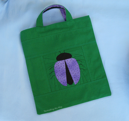 Ladybird Tote Bag ~ Threading My Way