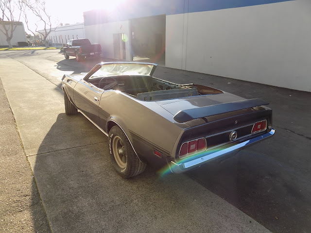 1973 Mustang with new quarter panel & paint.