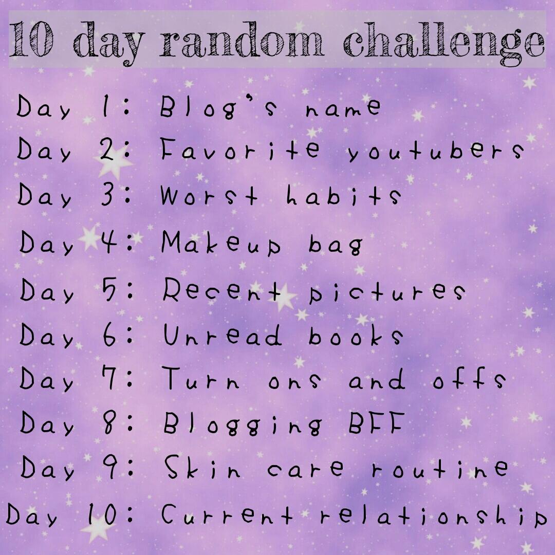 10 Day Random Challenge - Blog's Name | Lenne Zulkiflly