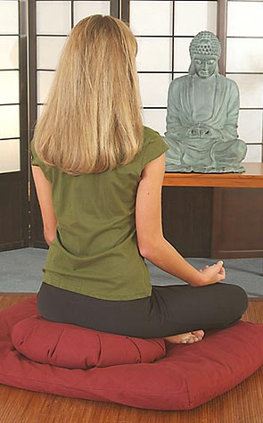 zafú, cojín, asiento, meditar, meditación, labores, mágico, buda