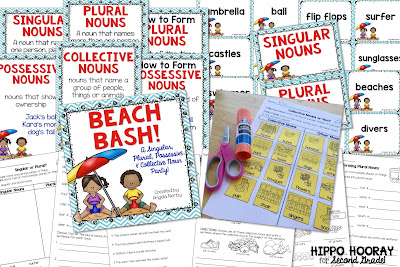 Not sure where to begin when teaching collective nouns? This blog post contains ideas, visuals, and activities for teaching your students all about collective nouns!!