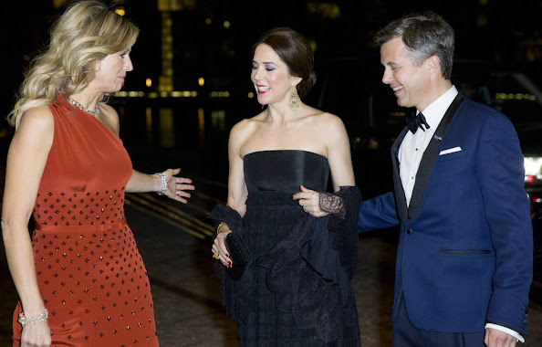 Queen Maxima of the Netherlands, Crown Princess Mary of Denmark and Crown Prince Frederik