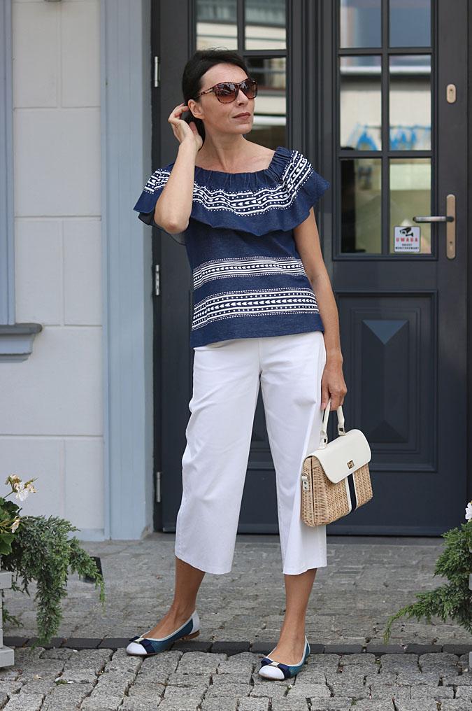 Elegancka stylizacja nad morze, blog z modą damską