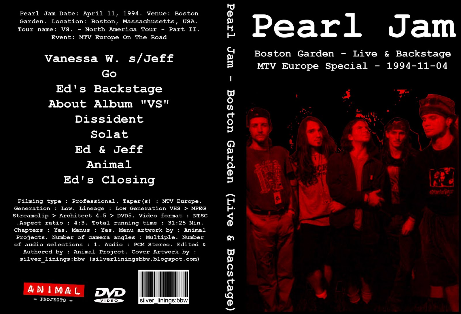 silver_linings:bbw: Pearl Jam - Boston Garden - Live & Backstage