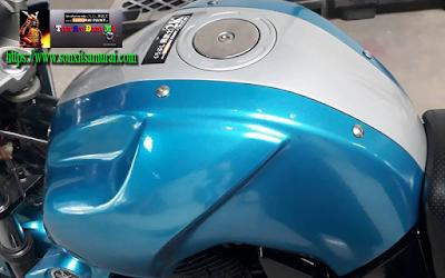 sơn bình xăng xe máy màu xanh nước biển 2511